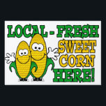 "Local Fresh Sweet Corn Yard Sign<br><div class=""desc"">Bright and colorful,  fun road side sign for your road side stand! Our default display is set for the largest sign,  but you can easily choose from any of the three sizes.</div>"