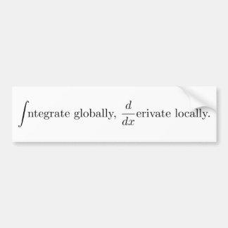 Local global pegatina para auto