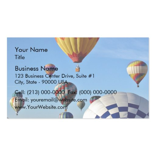 Local heroes balloon rally business card templates