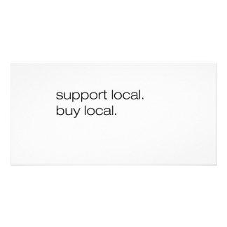 Local local de la compra de la ayuda tarjeta personal