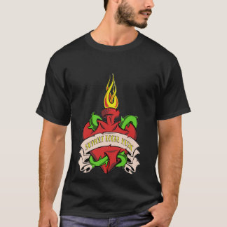 local music tattoo t-shirt