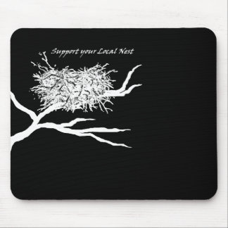 Local Nest on Black Mouse Pad