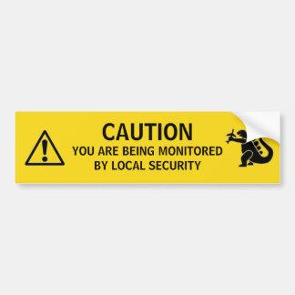 Local Security Bumper Sticker