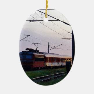 Local Train In Bulgaria Ceramic Ornament