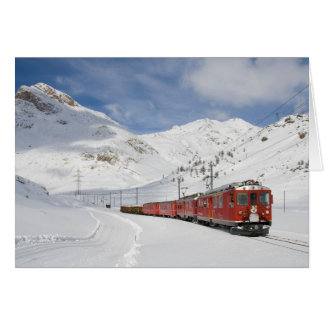 Local train on the Bernina line Switzerland Card