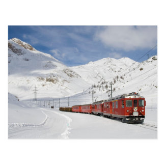 Local train on the Bernina line Switzerland Postcard