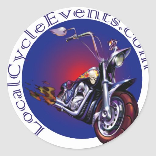 LocalCycleEvents Gear Classic Round Sticker