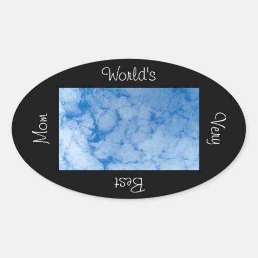 Localización de la nube de CSP Pegatina Ovalada