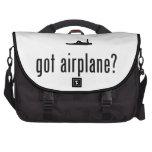 Localización del aeroplano bolsas de portatil