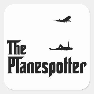 Localización del aeroplano calcomanía cuadrada