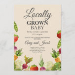 Locally Grown Farmers Market Couples Baby Shower Invitation