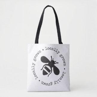 Locally grown honeybee tote bag