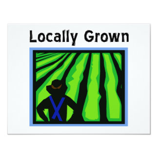 Locally Grown 4.25x5.5 Paper Invitation Card
