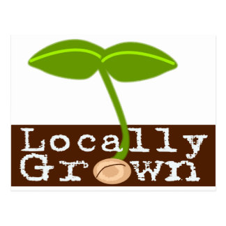 Locally Grown Postcard