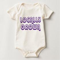 Locally Grown_purple Baby Bodysuit