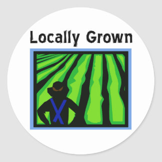 Locally Grown Classic Round Sticker