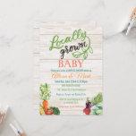 Locally Grown Vegetarian Baby Shower Invitation