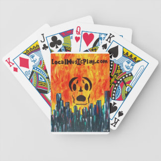 Localmusicplay.com Fire City Bicycle Playing Cards