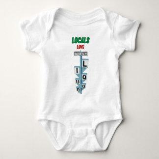 LOCALS LOVE LEUCADIA LIQUOR BABY BODYSUIT