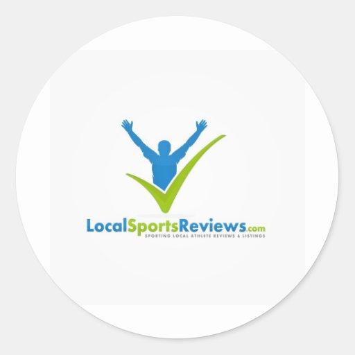 LocalSportsReview.com Classic Round Sticker