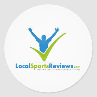 LocalSportsReview.com Pegatina Redonda