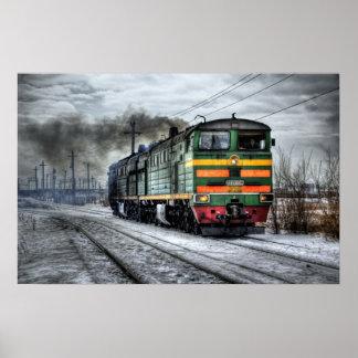 locamotive steam train photography art poster