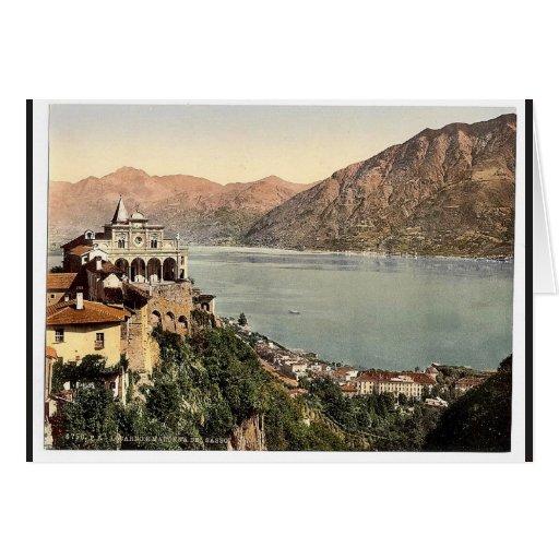 Locarno, Madonna del Sasso, Tessin, Suiza VI Felicitación