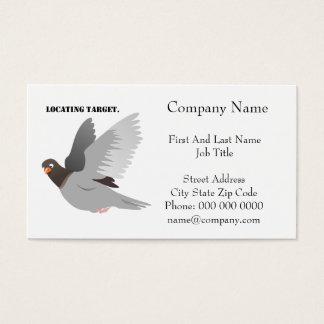 Locating Target Gray Pigeon Cartoon Business Card
