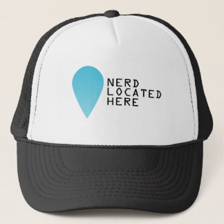 Location of a nerd trucker hat