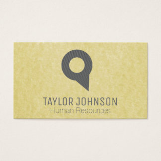 Locator Pin | Parchment Business Card