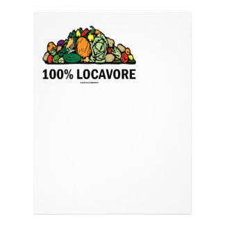 Locavore 100% (pila de verduras) membretes personalizados