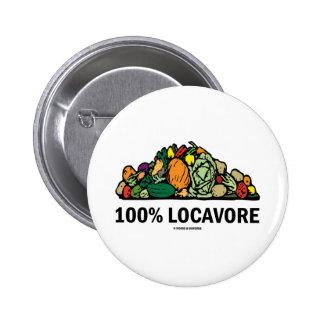 Locavore 100% (pila de verduras) pins