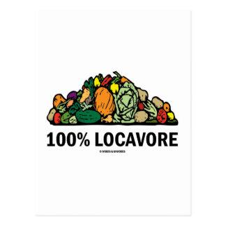 Locavore 100% (pila de verduras) postales
