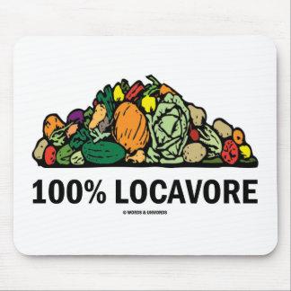 Locavore 100% (pila de verduras) alfombrilla de ratón