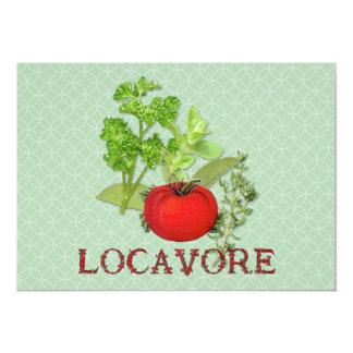 Locavore 5x7 Paper Invitation Card