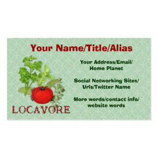 Locavore Double-Sided Standard Business Cards (Pack Of 100)