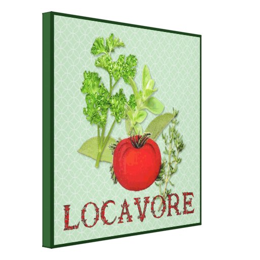 Locavore Stretched Canvas Print
