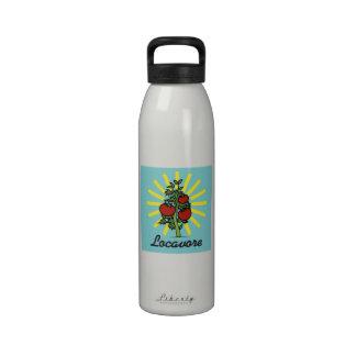 Locavore come diseño retro local botella de agua reutilizable