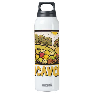 Locavore Slow Food 16 Oz Insulated SIGG Thermos Water Bottle