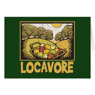 Locavore Slow Food Greeting Cards