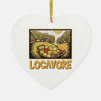 Locavore Slow Food Ceramic Ornament