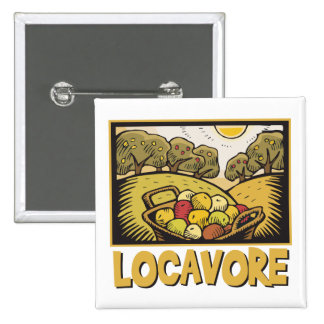 Locavore Slow Food Pinback Button