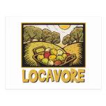 Locavore Slow Food Postcard