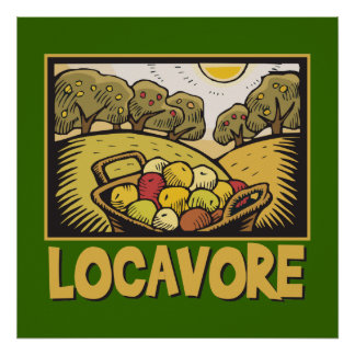 Locavore Slow Food Poster