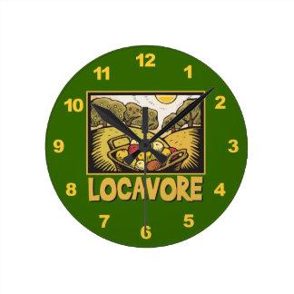 Locavore Slow Food Round Clock