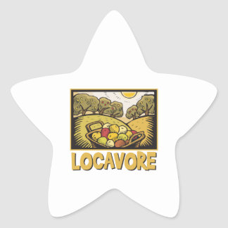 Locavore Slow Food Star Sticker