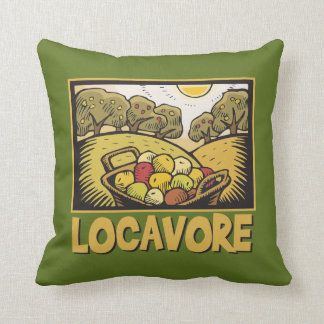 Locavore Slow Food Throw Pillow