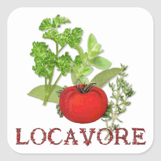 Locavore Square Sticker