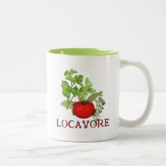 Locavore Taza De Café De Dos Colores