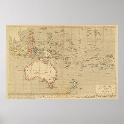 L'Oceanie en 1841 Poster